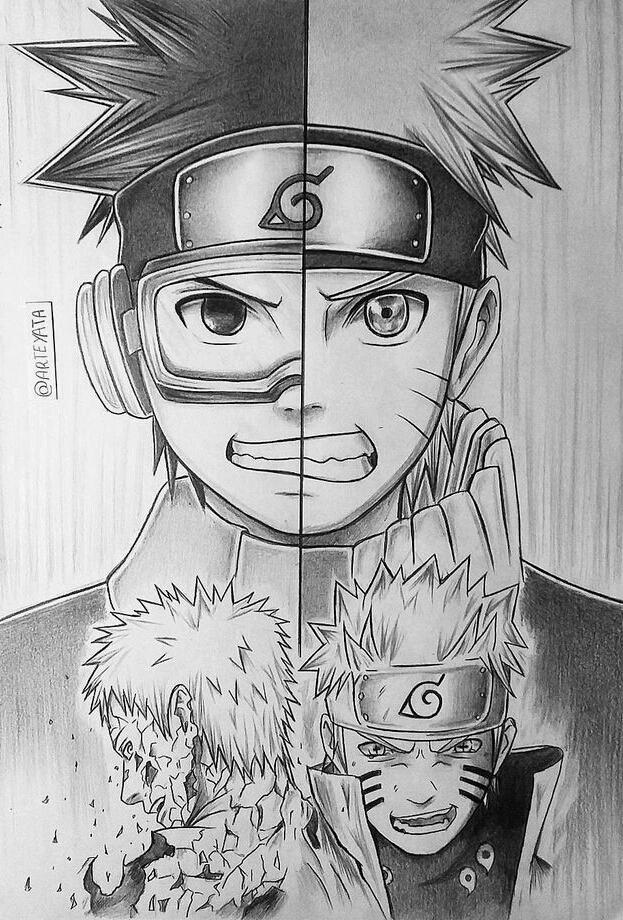 Eles Tinham Um Mesmo Ideal Naruto Sketch Naruto Drawings Naruto Shippuden Sasuke