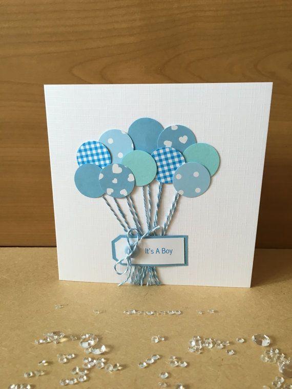 Handmade New Baby Card \u2013 new baby - new baby boy \u2013 new arrival