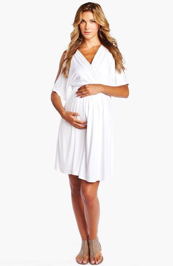 White maternity evening dress