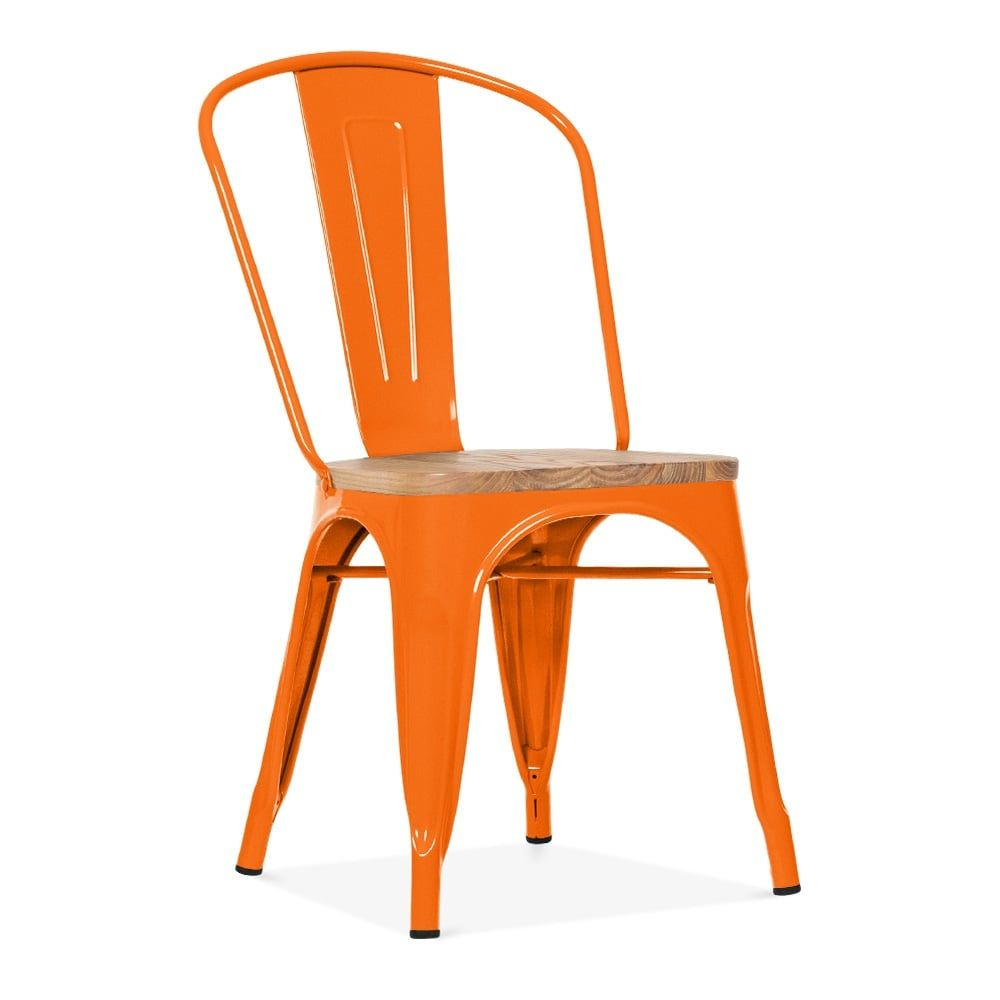 A New Orange Side Chair With Elm Wood Seat? Click Cult Furniture For Best  Prices, Colourful Variations And Next Day Delivery.