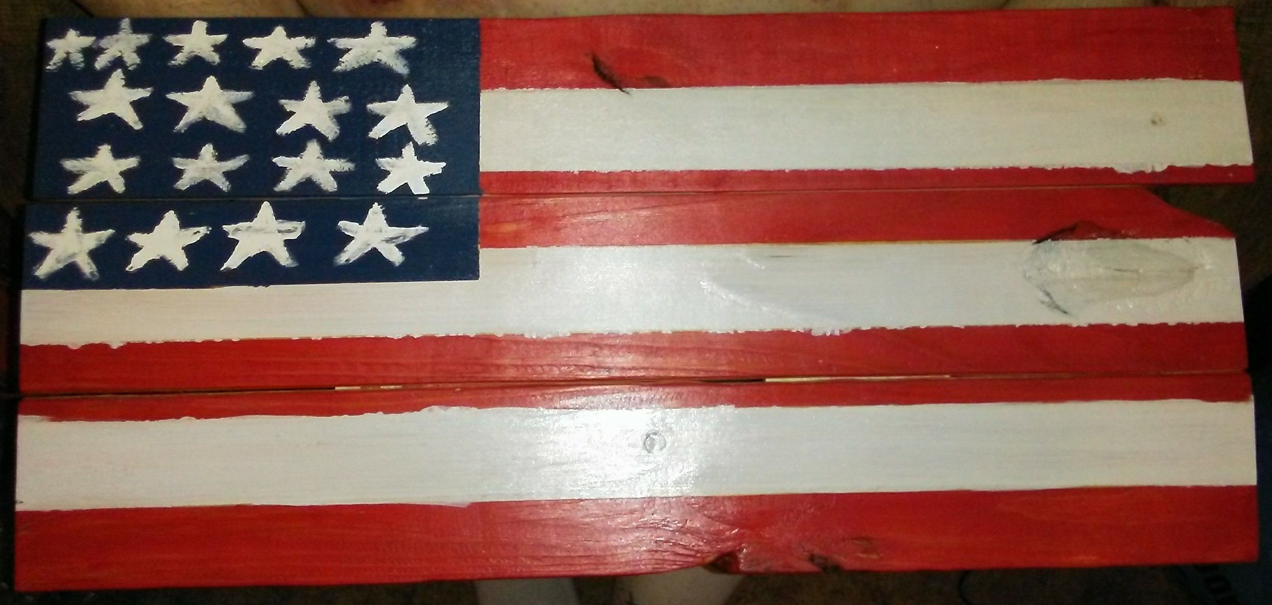 Flag Wall Hanger Made Out Of Old Pallets Old Pallets Wall Hanger Flag