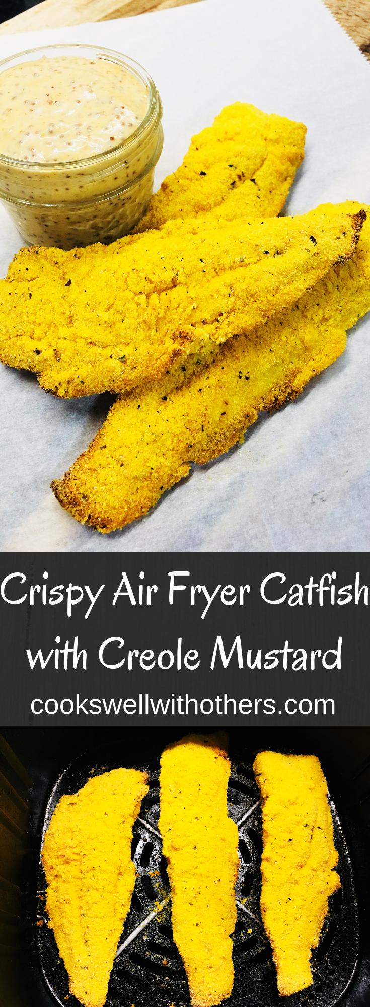 Crispy Air Fryer Catfish with Creole Mustard Recipe