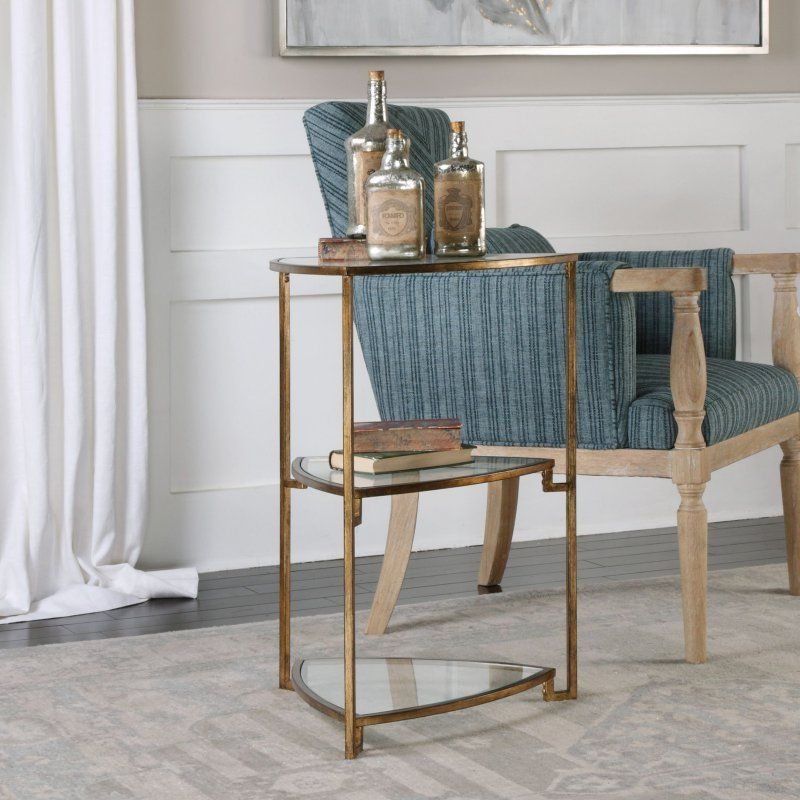 Uttermost Nastasia Gold Leaf Accent Table - 24730