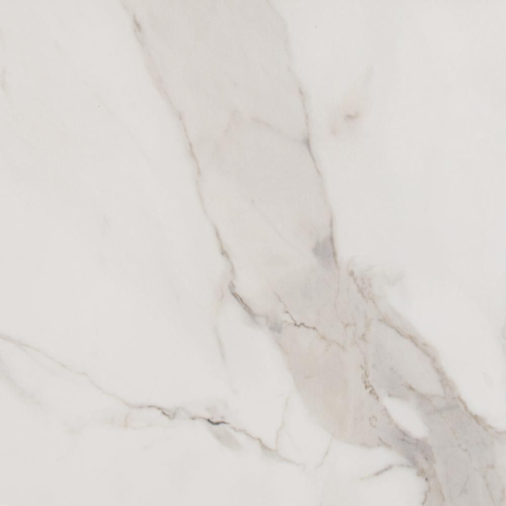 Msi Alpine Carrara 13 In X 13 In Glazed Porcelain Floor And Wall Tile 1 17 Sq Ft Porcelain Flooring Stone Tile Wall Wall Tiles