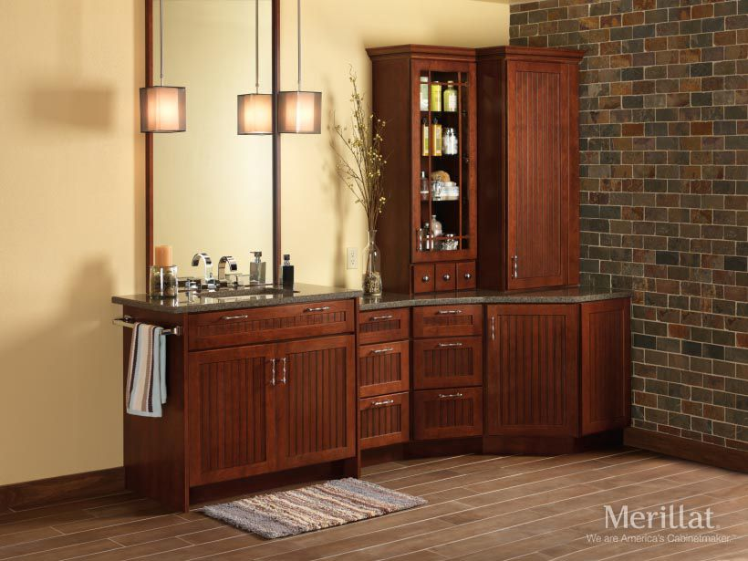 Merillat Classic Avenue W 5 Piece Drawer In Cherry Paprika With