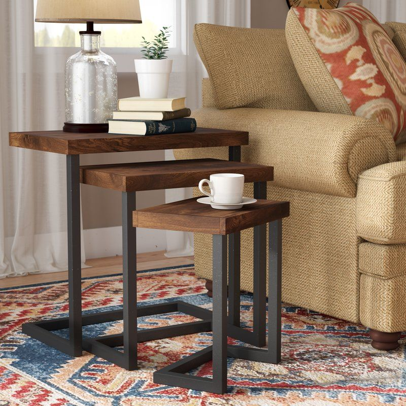 Crenata 3 Piece Nesting Tables In 2020 Nesting Tables Living