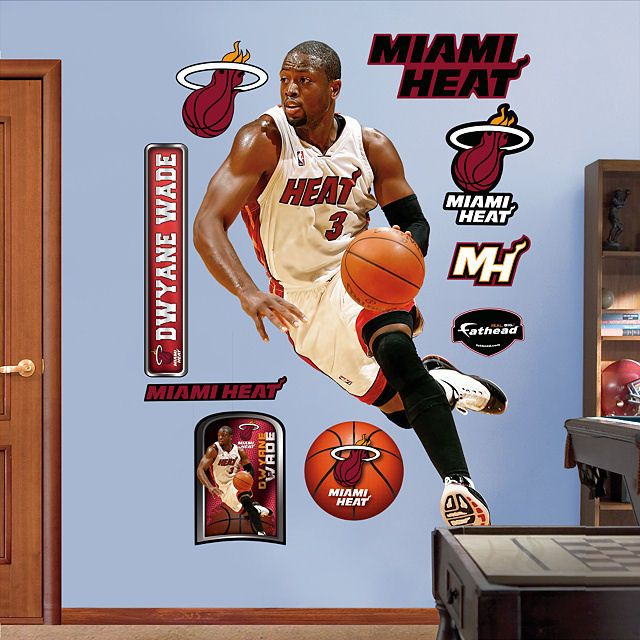 Fathead Dwayne Wade Miami Heat   Wall Sticker Outlet Part 38