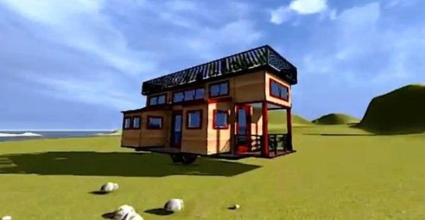 Tiny Modern House On Wheels transforming tiny house on wheels: too cool or too much? | tiny