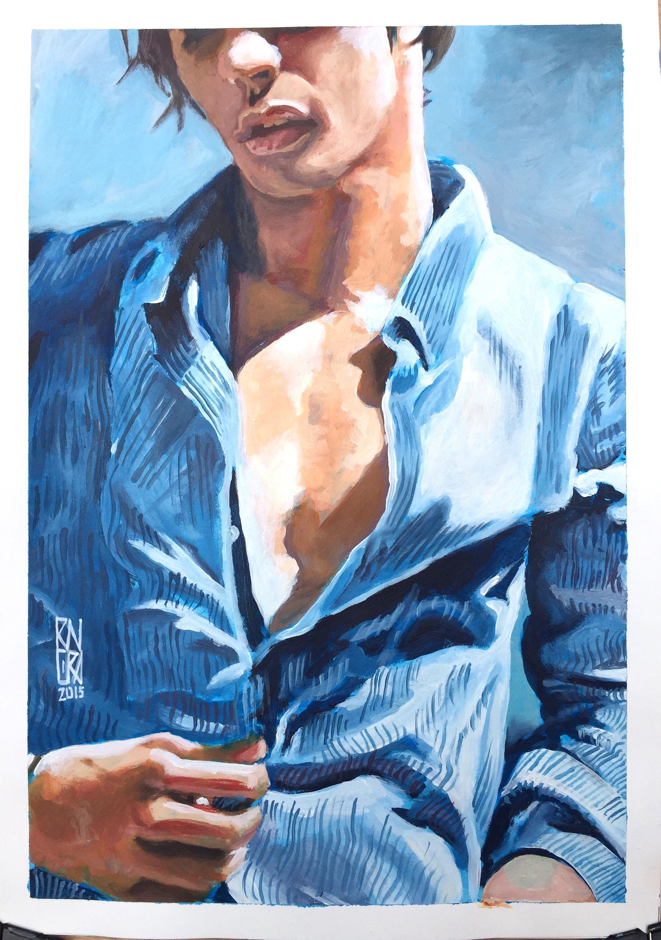 Male figure by #RichardRivera acrylic on paper | ART | Pinterest ...