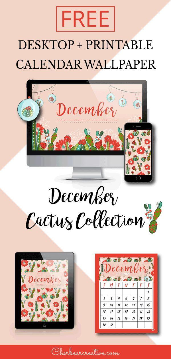 Free December Calendar - Cherbear Creative | Desktop ...