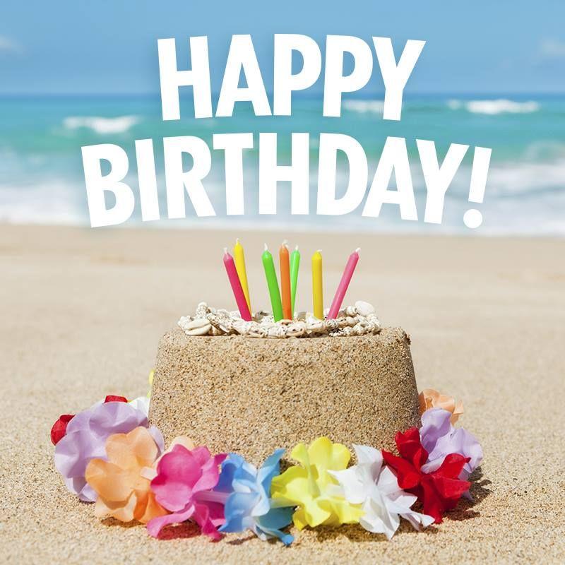 beach style | Happy birthday greetings, Happy birthday ...