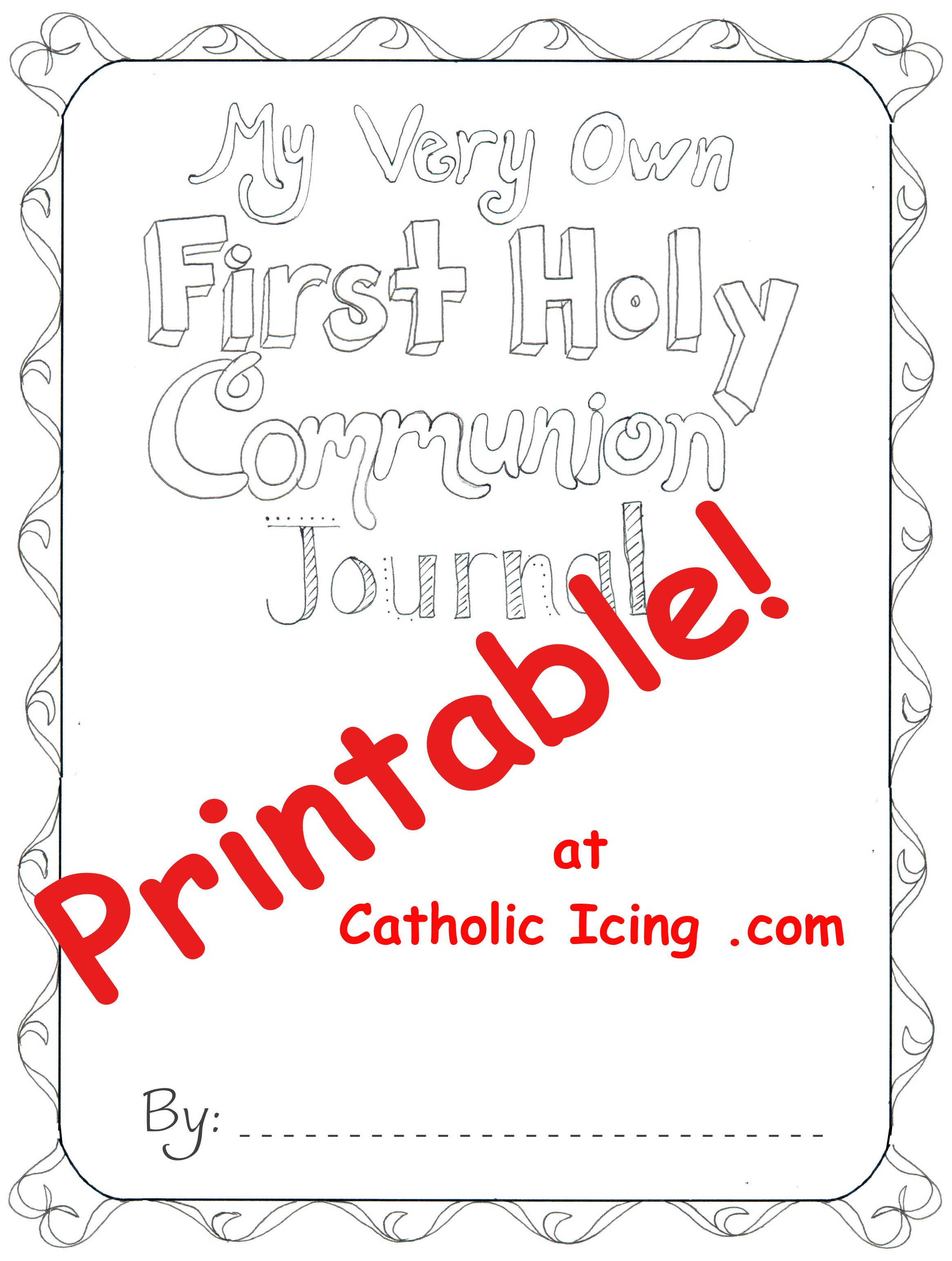 Freebie First Holy Communion Journal Cover 2 332 3 088