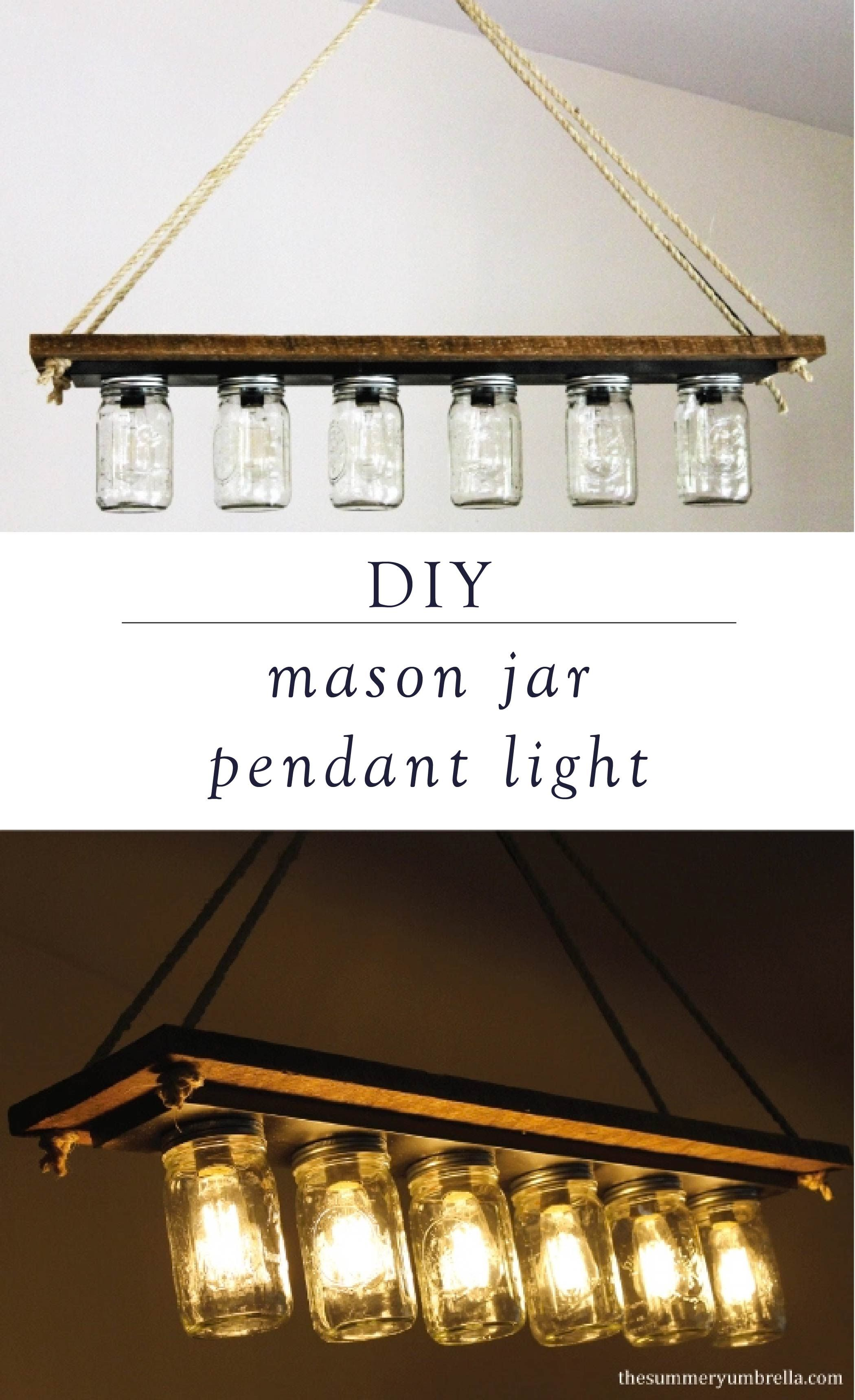 How to Make a Mason Jar Pendant Light Mason jar pendant