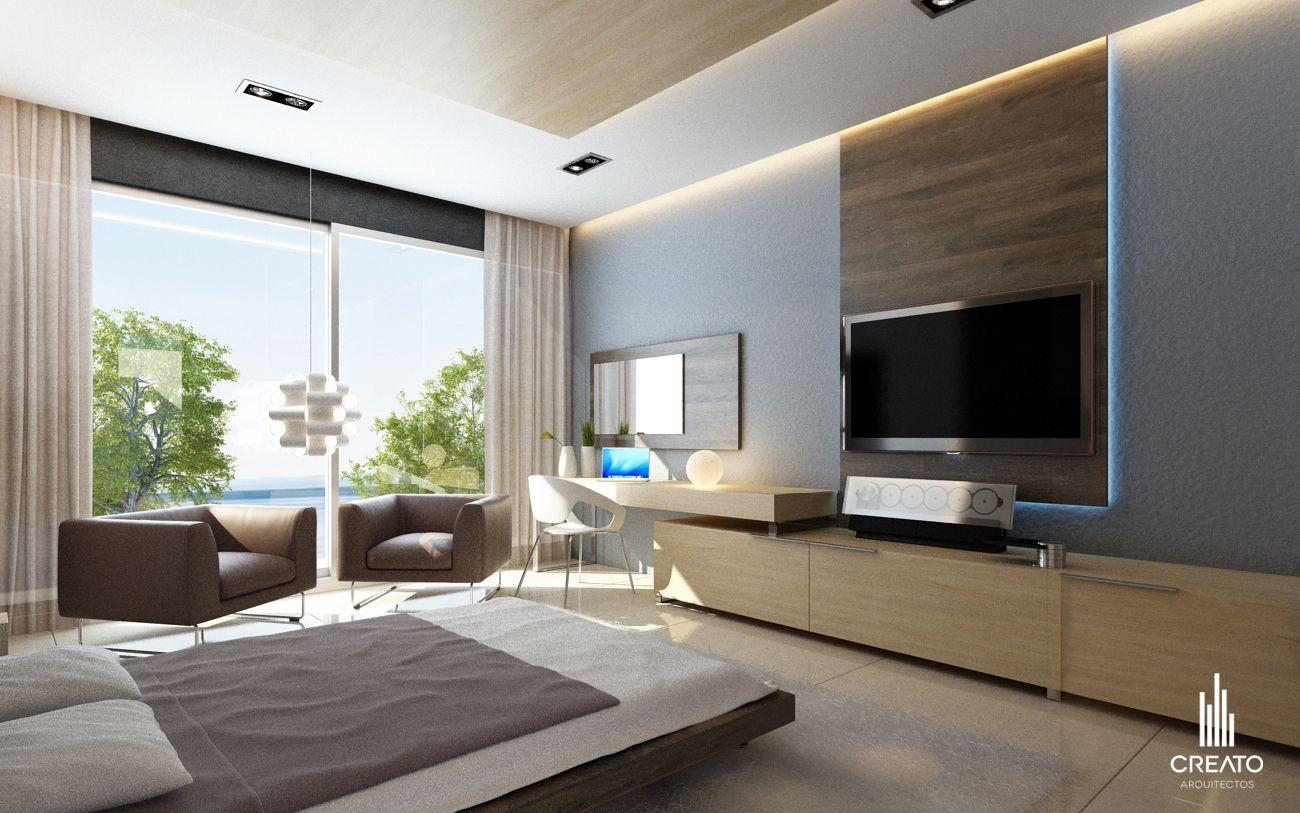 Recamara principal creato arquitectos casa pinterest for Dormitorio principal m6 deco