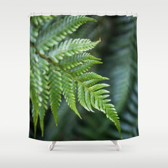Fern Ferns Rainforest Forest Shower Curtain Curtains Shower