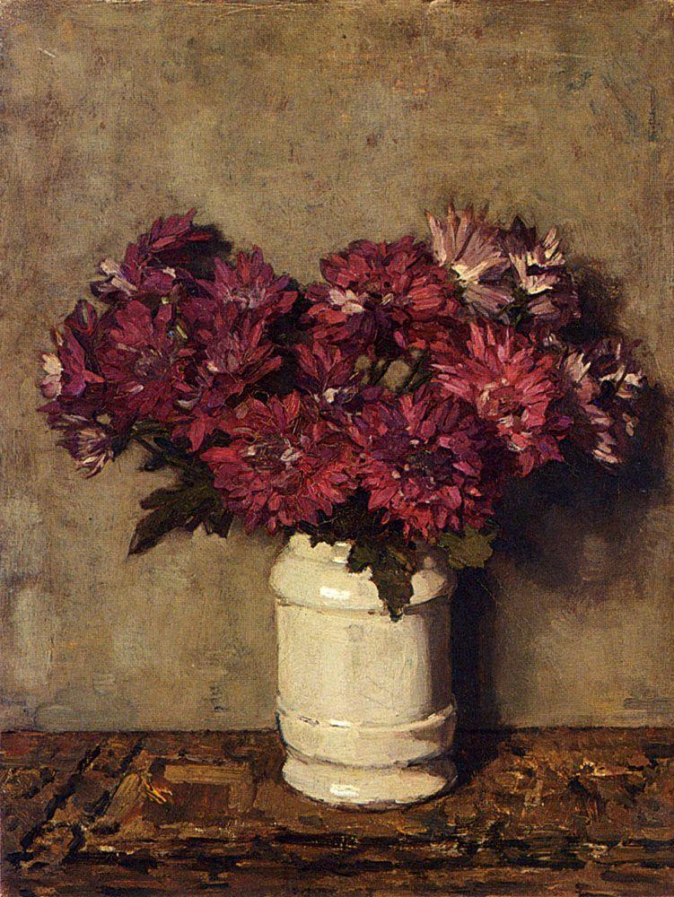 Chrysanthemums In A Vase Johannes Evert Hendrik Dutch 1861 1942 Still Life Art Flower Painting Art Painting Oil