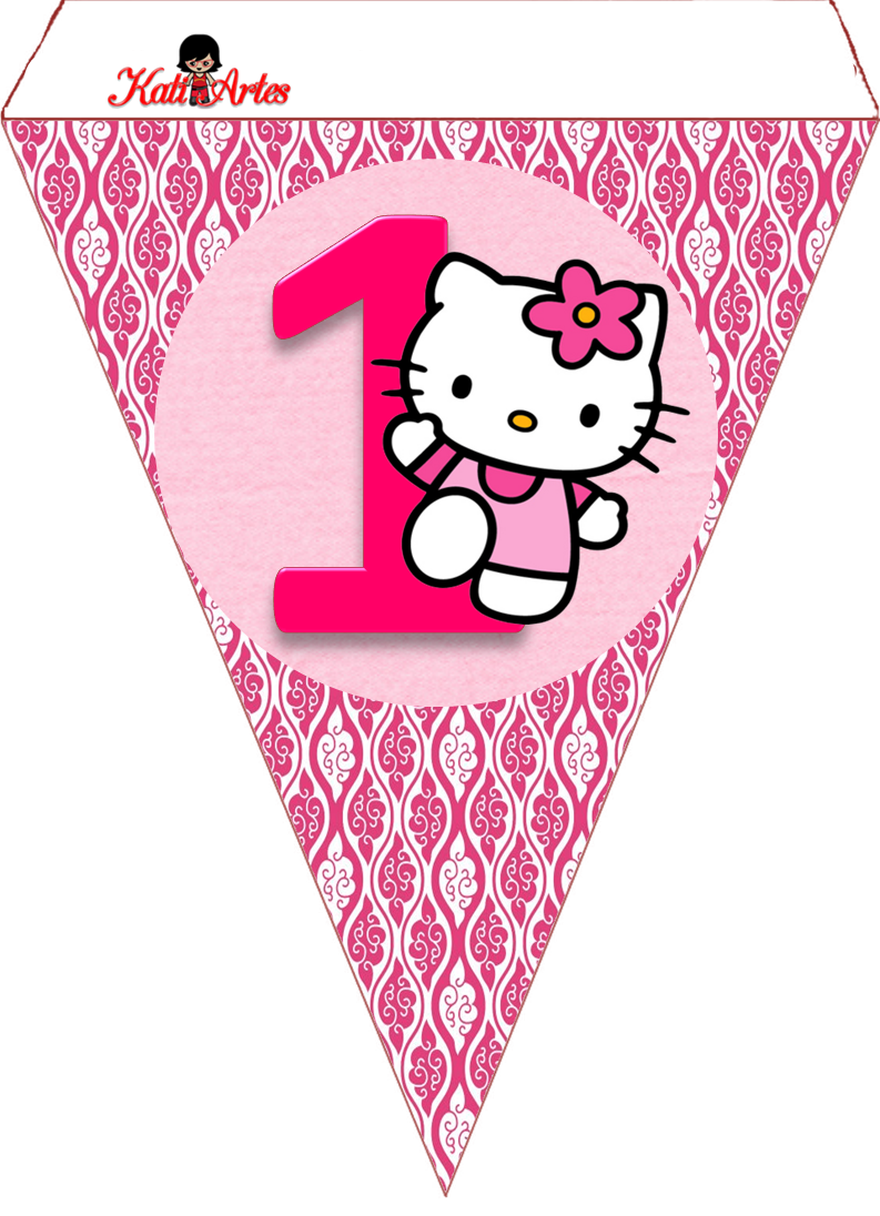 Uncategorized Hello Kitty Number bandeirolas hello kit kitty and buntings kit