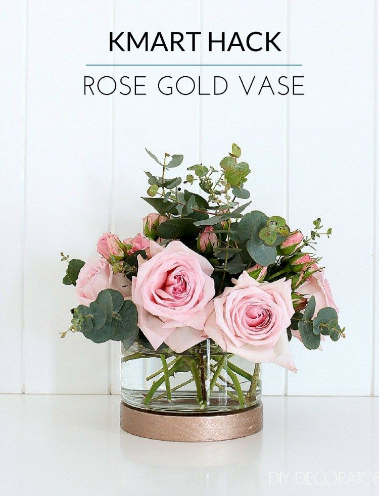 Kmart Hack Rose Gold Hurricane Vase Home Decor Tips And Tricks