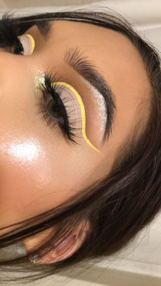 yellow eye makeup colours 362469470005110974