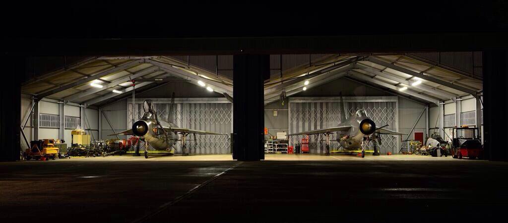 QRA hanger with Lightnings