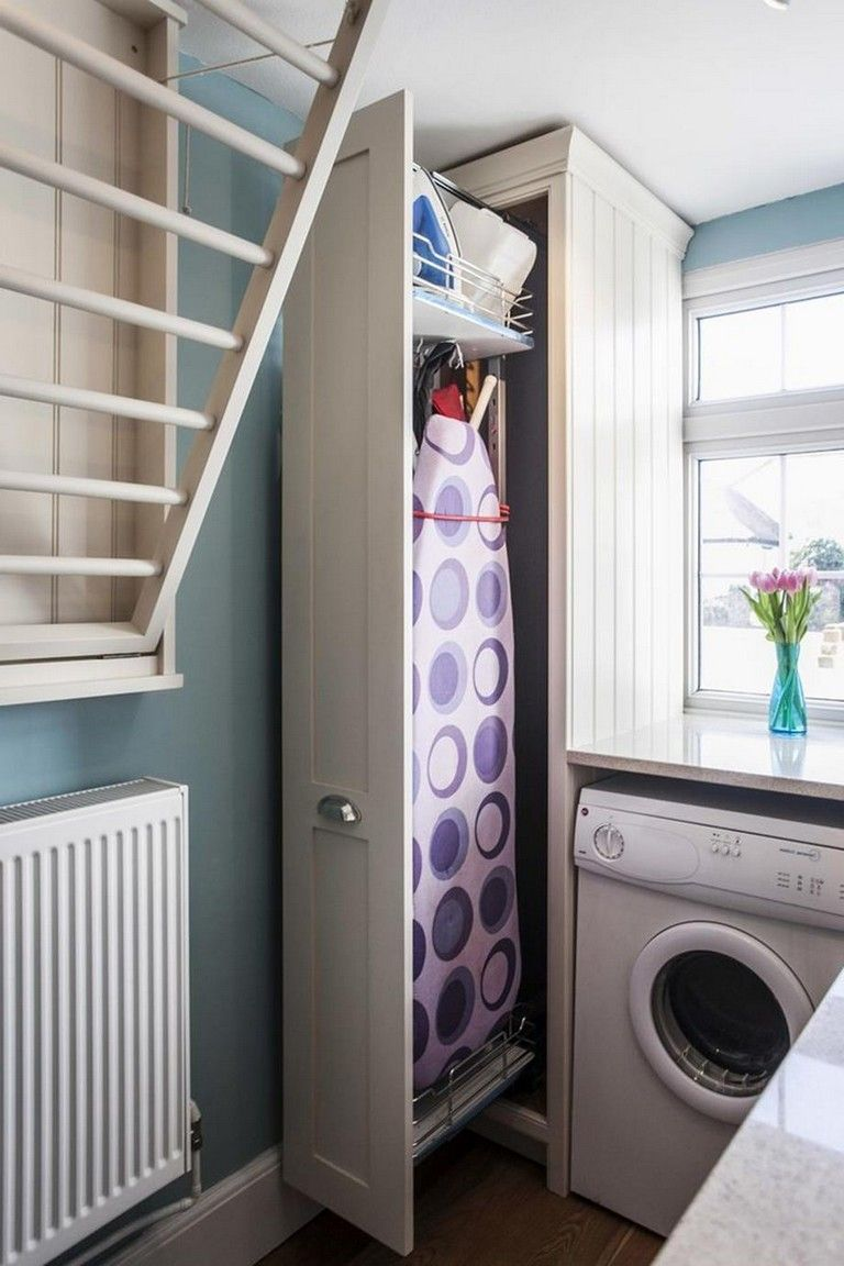 30 top laundry room ideas shelf with hanging rod small