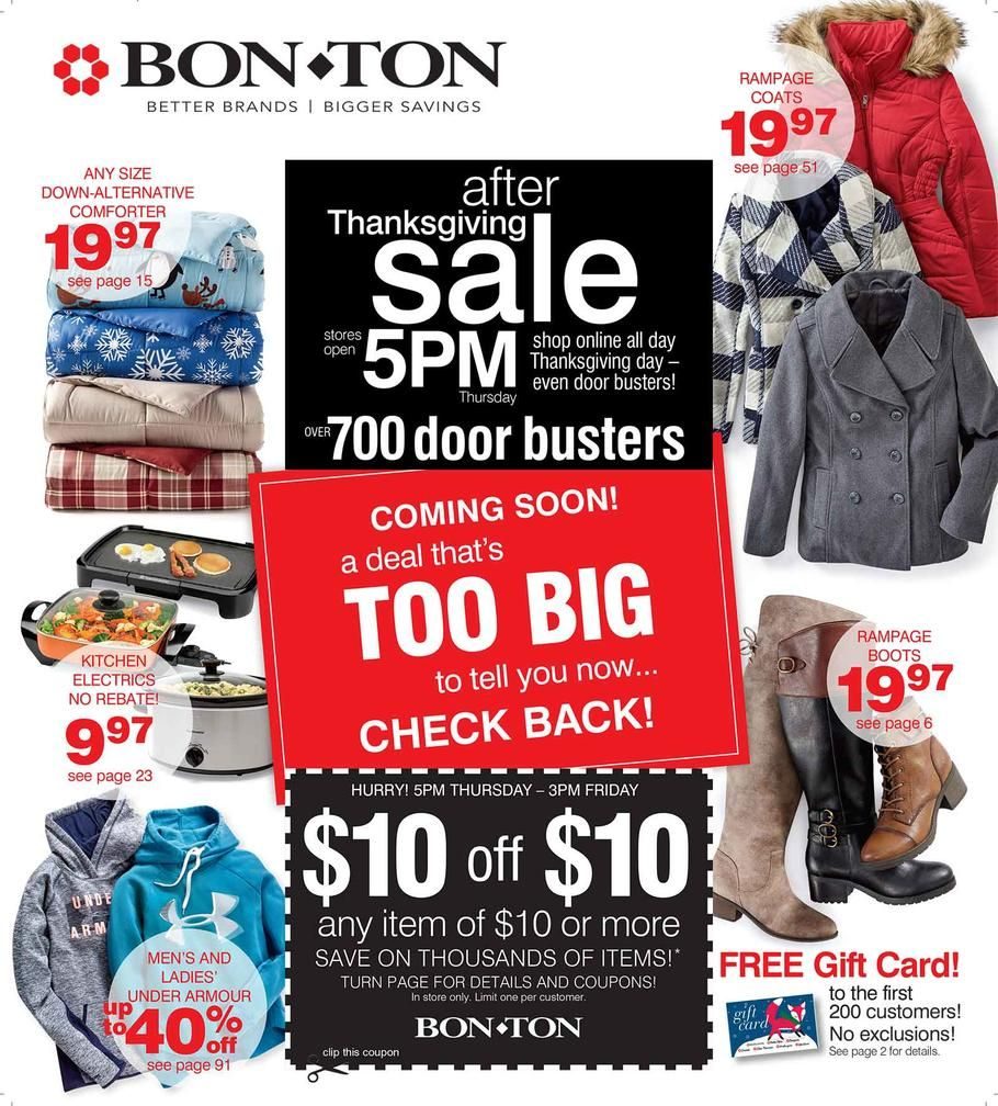 Bonton black friday 2017 ad scan deals and sales coupons