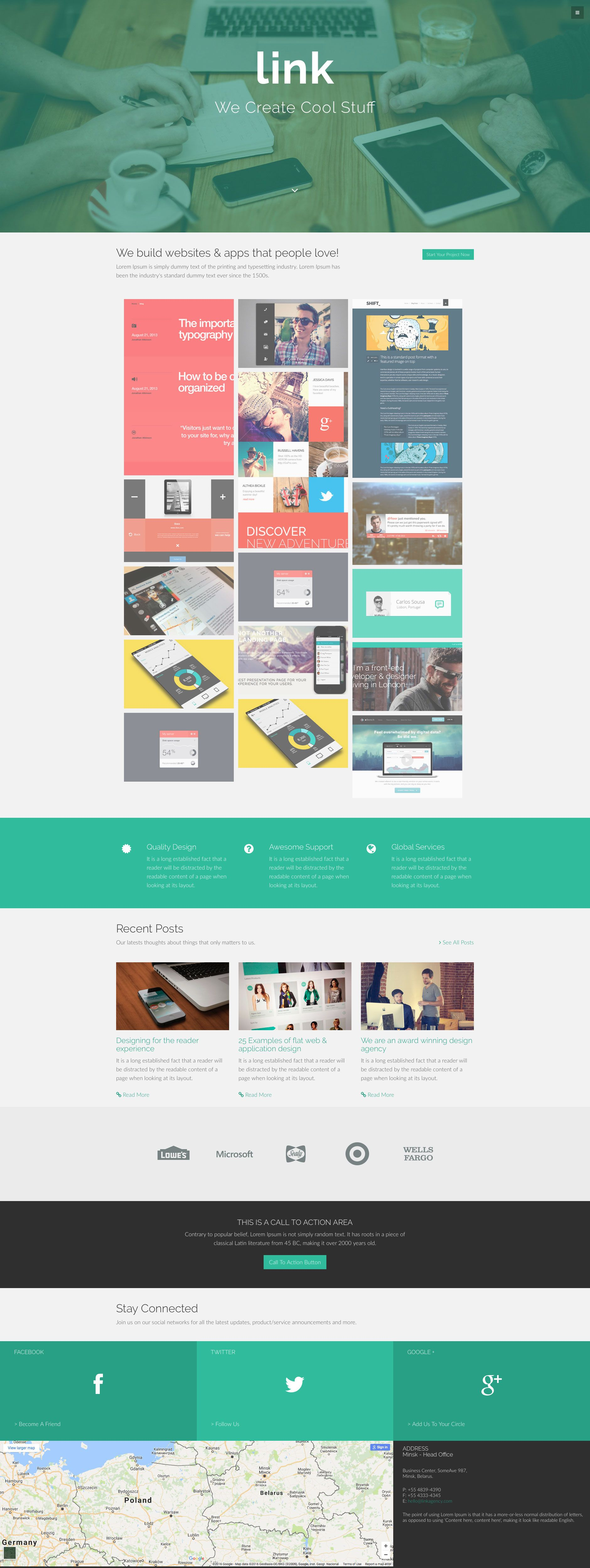 Link is a free responsive HTML5 template built on the