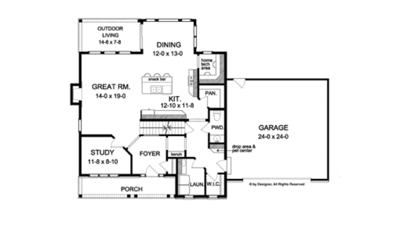 Colonial Style House Plan - 4 Beds 2.5 Baths 2348 Sq/Ft ...