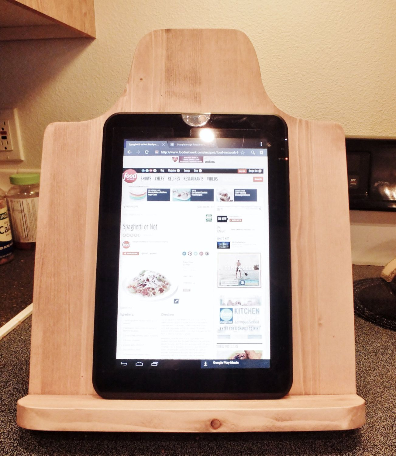 rustic cook book stand ipad stand rustic wood hotpot holder