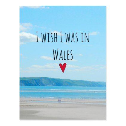 Beautiful Wales Sea Beach Landscape Aberdovey Postcard  Holiday