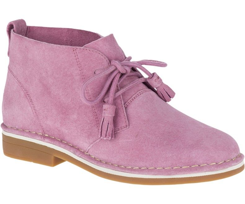 Cyra Catelyn Suede Desert Boots, in Dusty Orchid Hush