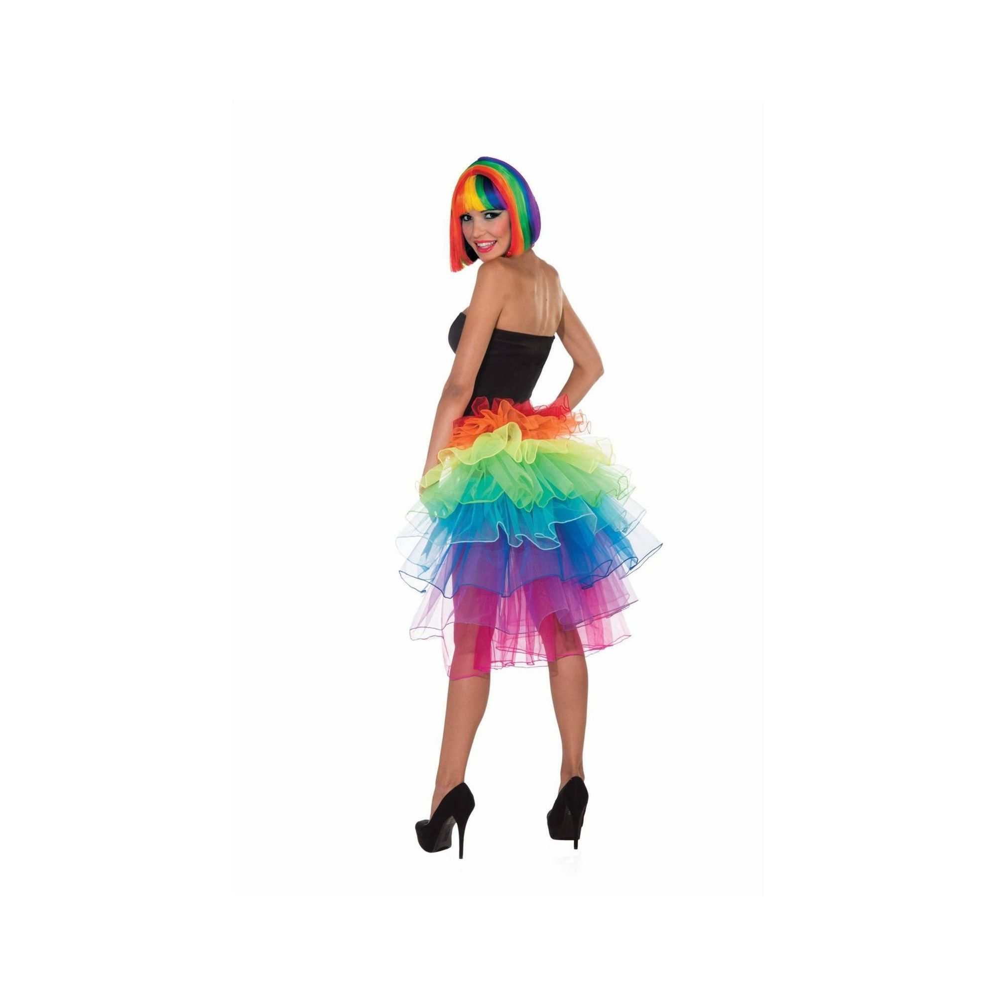 Halloween Girls' Rainbow Bustle Halloween Costume Tutu One
