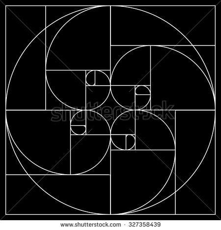 Golden rectangle stock vectors vector clip art for Golden ratio artwork