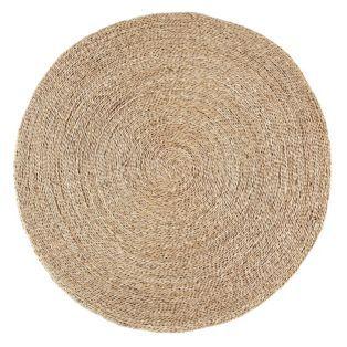 tapis rond en jonc de mer naturel rush les tapis textiles et tapis salon et salle. Black Bedroom Furniture Sets. Home Design Ideas