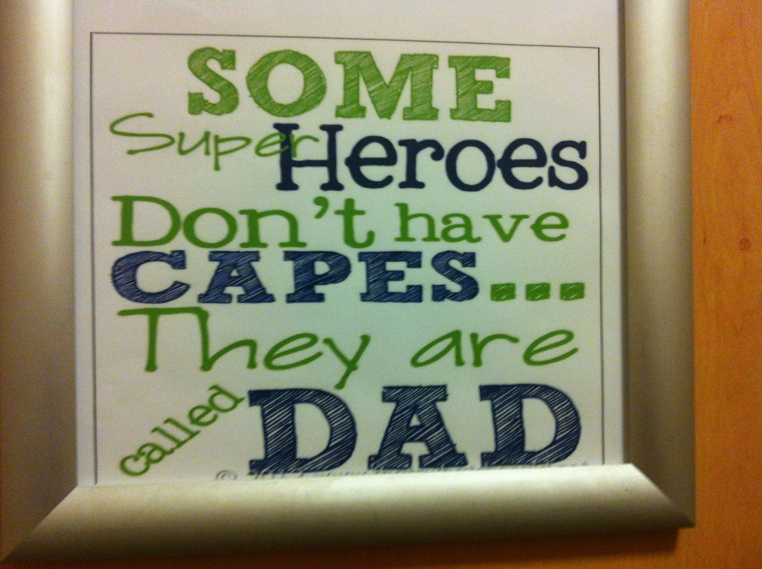 Could use this to inspire something for Fathers day gift/ card