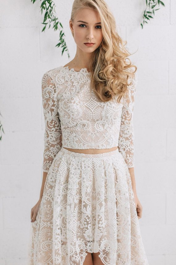 452dbda239fc1 Lace Wedding Top