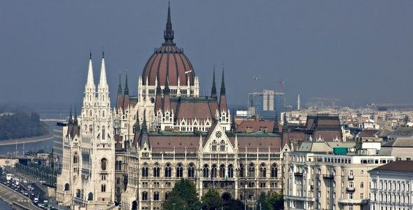 The Parliament Building In Budapest Hungary Is A Magnificent