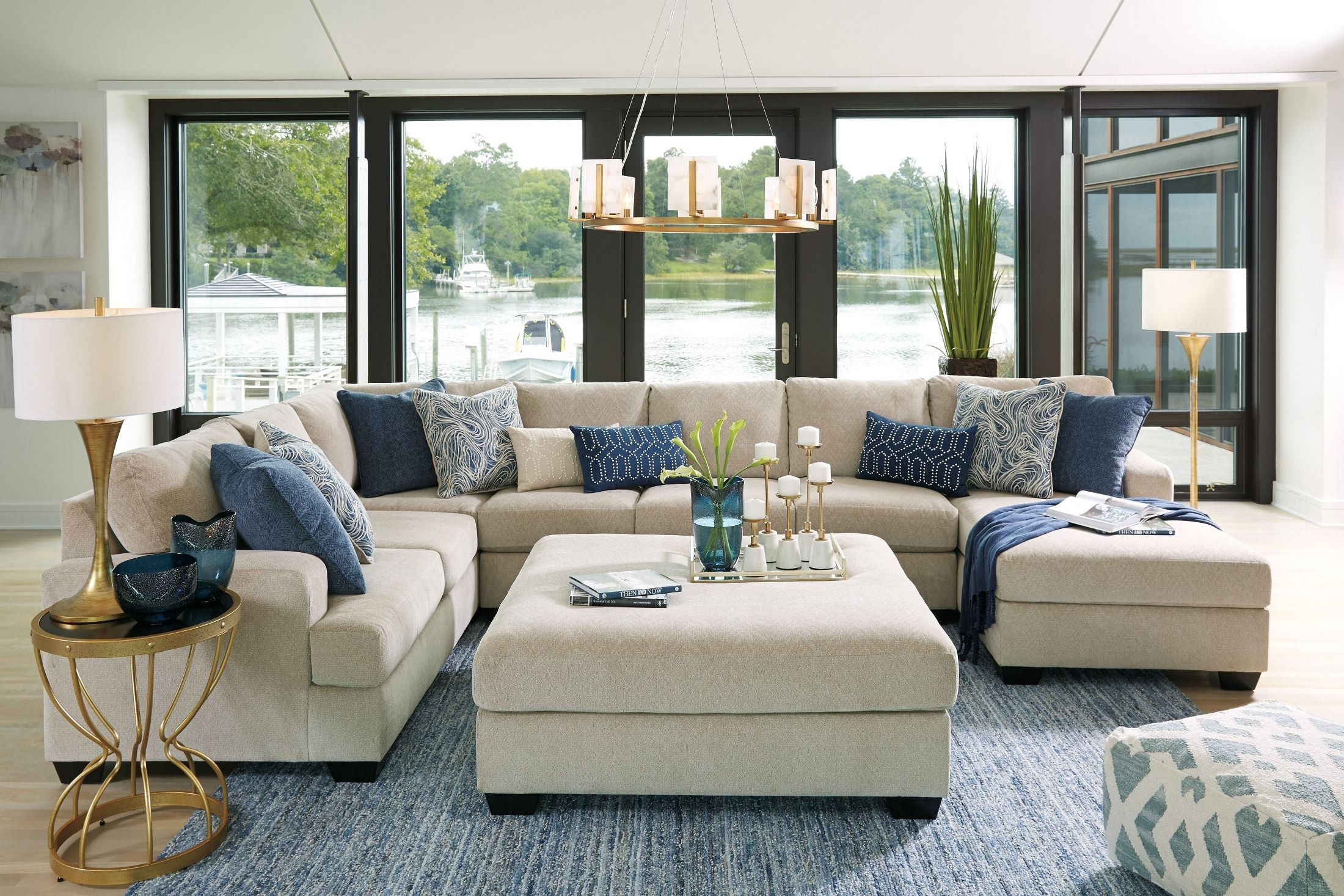 competitive price ae0d2 09ad6 Enola Sepia Oversized Accent Ottoman | living room ideas in ...