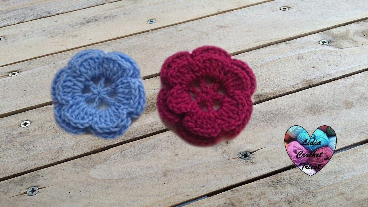 Fleur Crochet Facile Flor Facil A Crochet Crochet Bébé