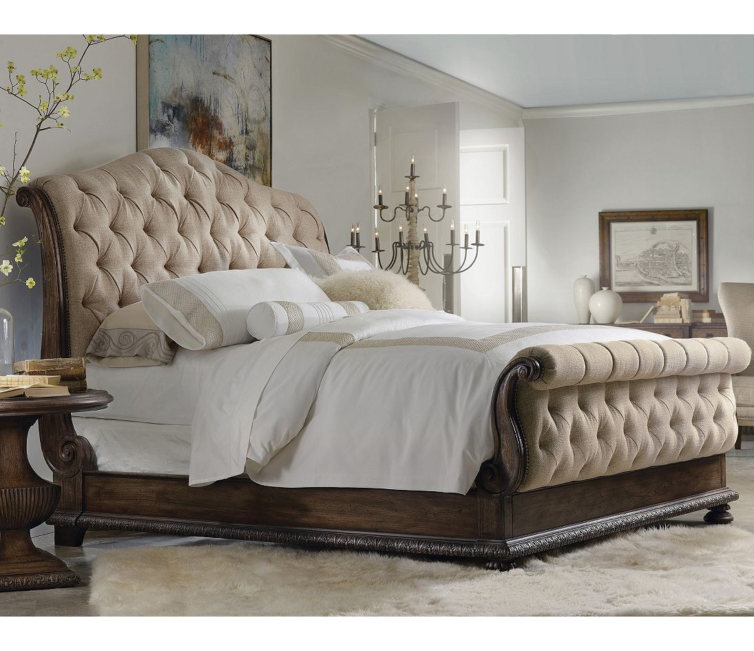 hooker furniture rhapsody tufted bed - Quilted Bed Frames