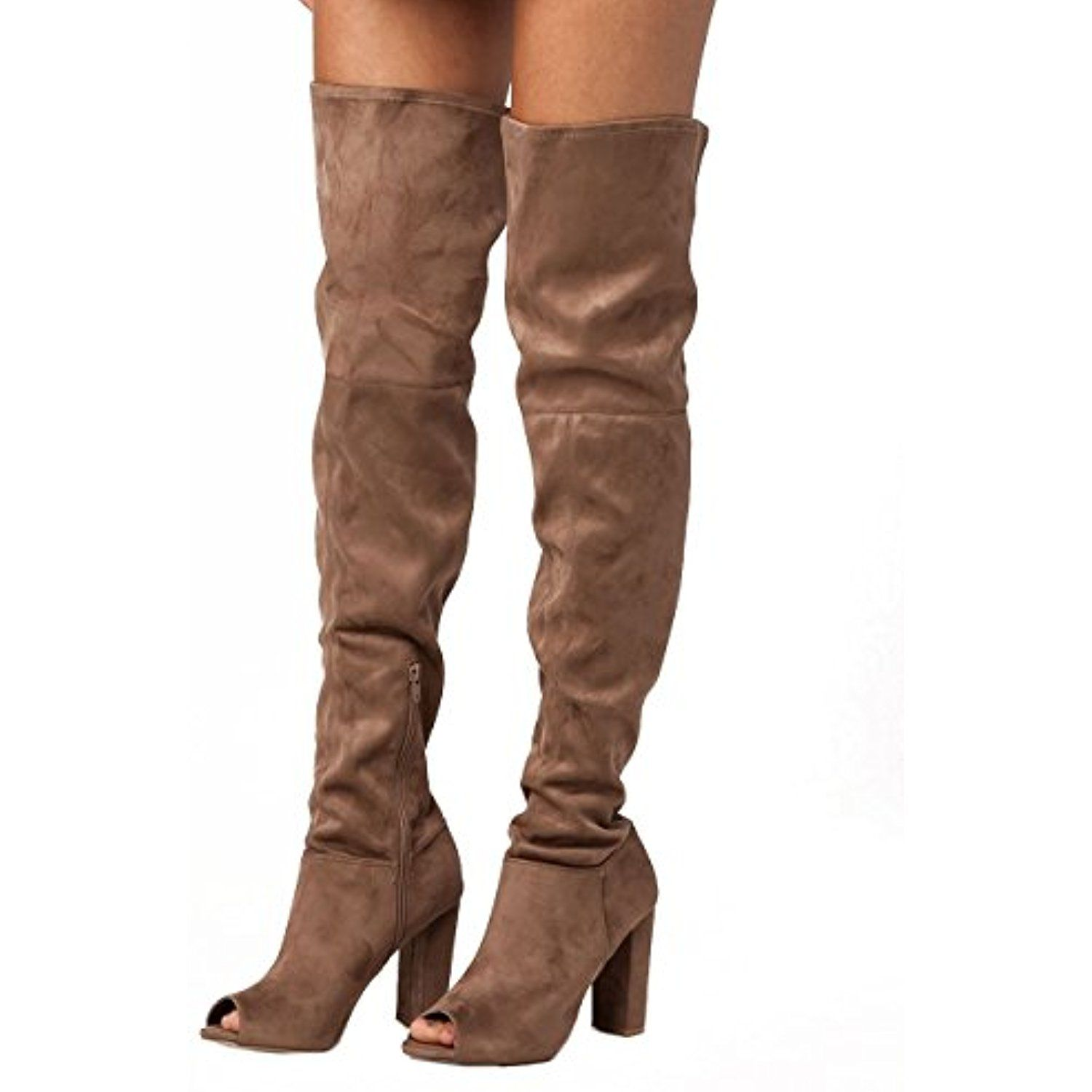 e37538f85ac Peep Toe Womens Over The Knee Boots    Check this awesome product by going  to the link at the image. (This is an affiliate link)  OvertheKnee