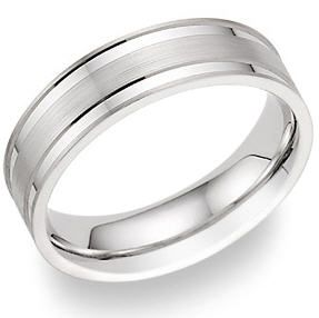 Platinum Male Wedding Rings Mens Bands 287x286