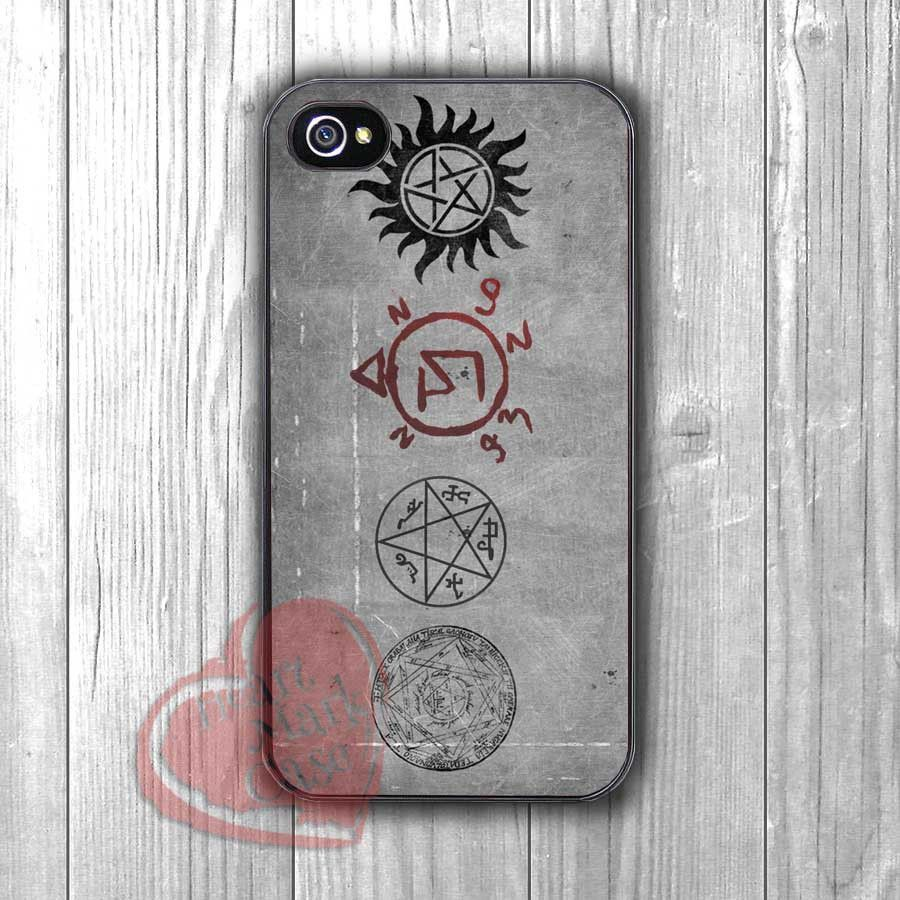 Supernatural Symbols On Wall Fzia For Iphone 6s Case Iphone 5s
