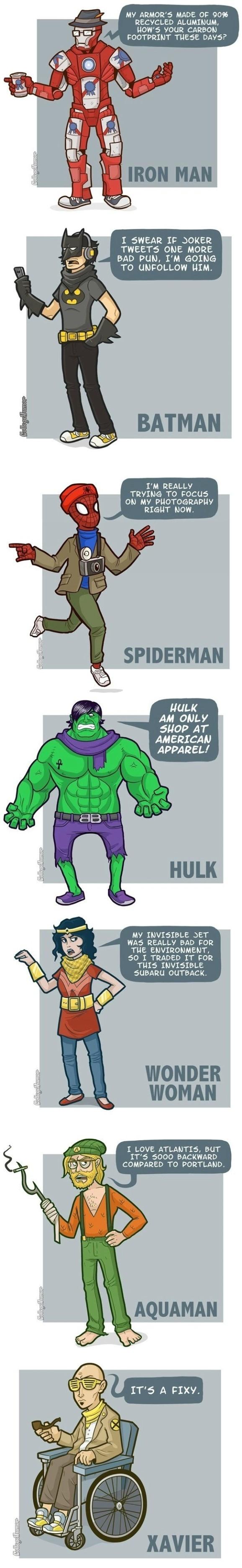 Hipster Superheroes = douche Superheroes