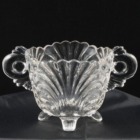 size 40 0c0b0 2258b Caprice 38 Crystal Clear Open Sugar Bowl Cambridge Elegant ...