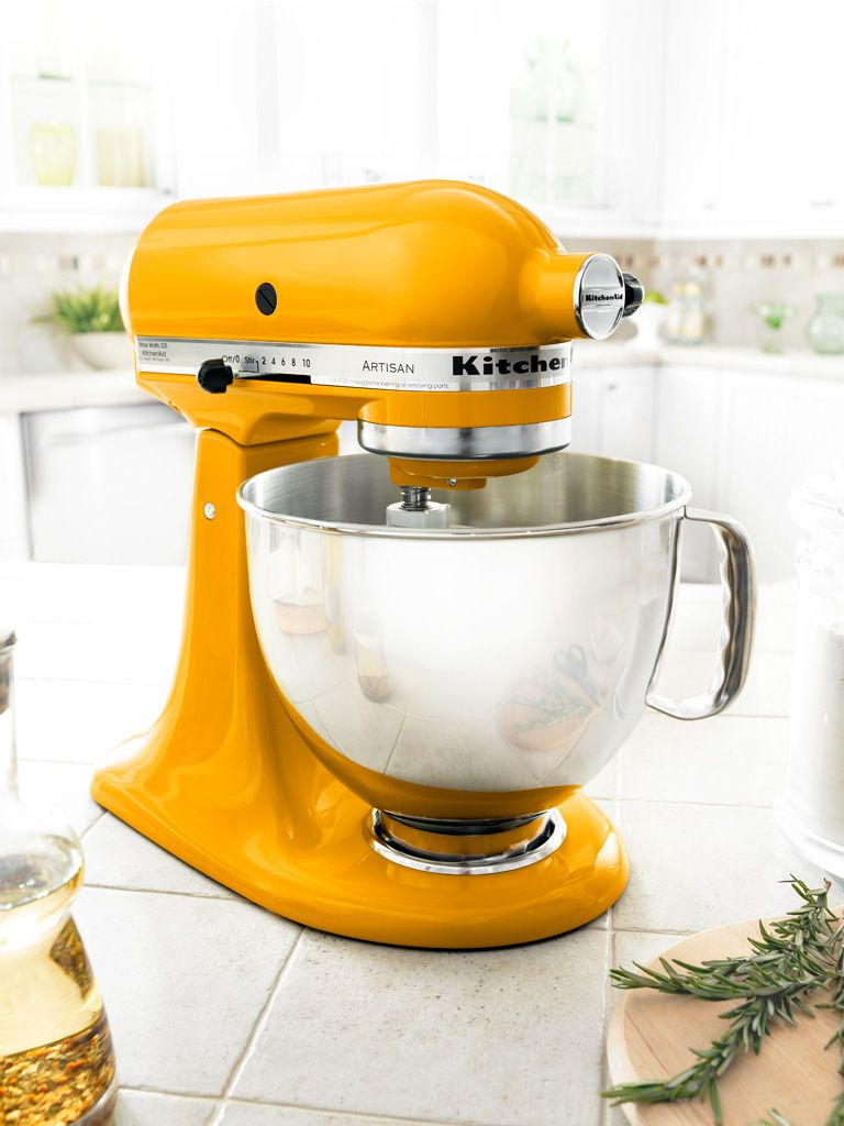 Gotta Love This Bright Yellow KitchenAid Mixer.