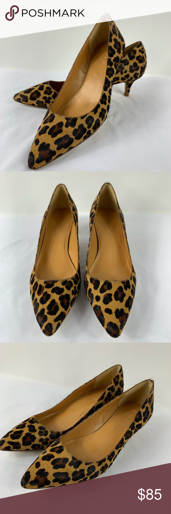 73308fa3d6a9 J Crew Dulci Calf Hair Leopard Kitten Heels Sz 7 Like new condition animal  print shoes. Last picture shows a miss stitch. J. Crew Shoes Heels