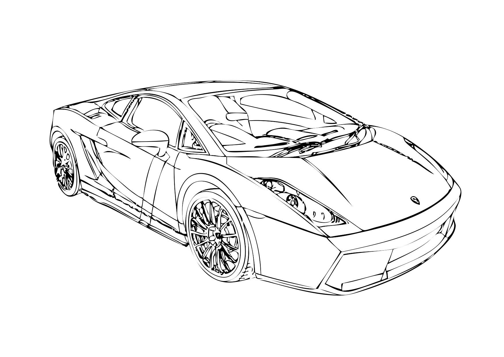 Awesome Lamborghini Coloring Pages For Kids New Coloring Pages