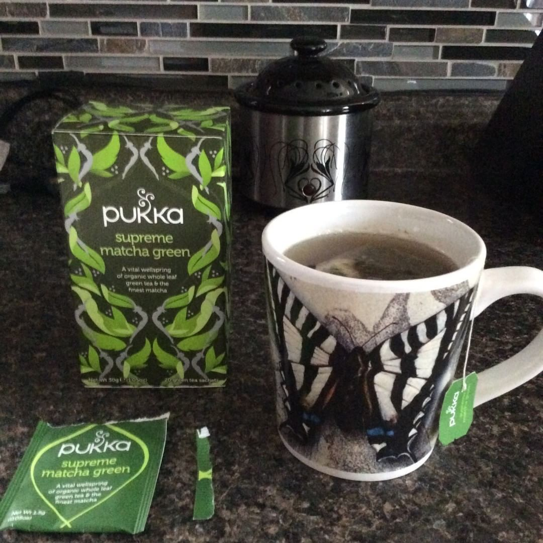 About to chill this Pukka Matcha green tea, and see how it