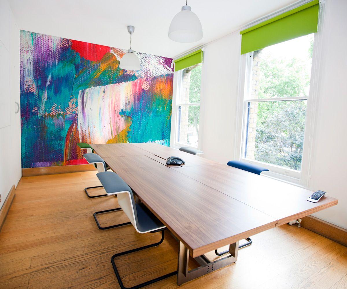 Abstract Brushmarks Wallpaper Mural Vibrant Office Design Office Mural Abstract Art Wallpaper